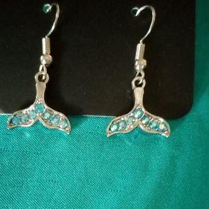 Mermaid rinstone dangly earrings